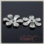 Шапочки для бусин (набор 20шт) СМ-068, цвет серебро