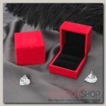 Футляр под кольцо Узоры, 6x6x4,6, цвет красный - бижутерия