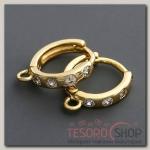 Швензы родированные Кольцо, цвет золото - бижутерия