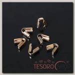 Концевик-зажим, (набор 20шт), цвет золото, 3,5 мм