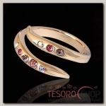 Кольцо Марципан, безразмерное, цвет розовый в золоте