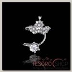 Серьга Каффа корона с кристаллом, малая, цвет МИКС - бижутерия