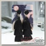 Серьги Кисти ванесса, цвет чёрный, L кисти 5,5 см - бижутерия