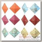 Серьги эмаль Конфетти квадрат, цвет МИКС - бижутерия