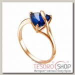 Кольцо Гипноз, позолота, цвет синий, 17 р-р
