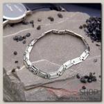 Браслет мужской Стальной змейка, цвет серебро - бижутерия