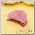 Краб для волос Версаль 6 см овал розовый - бижутерия