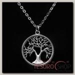 Кулон Древо, цвет чернёное серебро - бижутерия