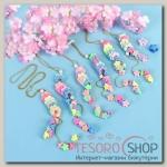 Кулон детский Выбражулька цветочная россыпь, 45 см, цвет МИКС - бижутерия