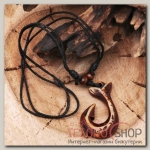 Кулон мужской Крючок длина 40-80см регулир-я, цвет коричнево-чёрный - бижутерия