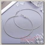 Серьги кольца Классика, цвет серебро, d=8 см - бижутерия