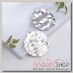 Серьги металл Атмосфера круги, цвет серебро - бижутерия