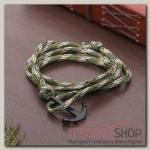 Браслет мужской Морской бриз якорь, цвет зелёный - бижутерия