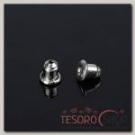 Заглушки для швенз и пусет (10 пар набор), цвет серебро - бижутерия
