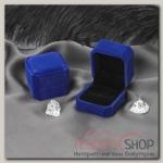 Футляр под кольцо Геометрия, 5x5,5x4, цвет синий - бижутерия