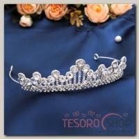 Диадема для волос Королева 4,5 см - бижутерия