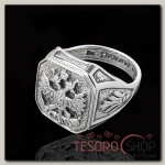 Кольцо Россия, размер 22, цвет чернёное серебро