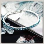 Браслет со стразами Лёд 1 ряд, цвет голубой, 4мм - бижутерия