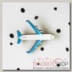 Брошь деревянная Самолет