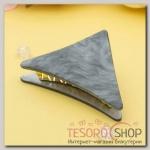 Краб для волос Версаль 7,5 см треугольник серый - бижутерия