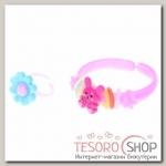 Набор детский Выбражулька 2 предмета: браслет, кольцо, ассорти, цвет МИКС - бижутерия