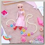 """Набор детский """"Выбражулька"""" 3 предмета: кукла, кулон, браслет, мишка, цвет МИКС - бижутерия"""