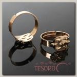 Основа для кольца с площадкой на 7 петель СМ-710-58А (набор 5шт) регул-й раз-р, цвет золото