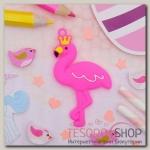 """Брошь """"Выбражулька"""" фламинго в короне, цвет розовый - бижутерия"""