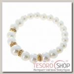 Браслет жемчуг Подарок моря с жемчугом, цвет белый в золоте - бижутерия