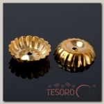 Шапочки для бусин (набор 20шт) СМ-049, цвет золото
