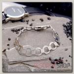 Браслет мужской Стальной круглые звенья, цвет серебро - бижутерия