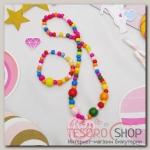 Набор детский Выбражулька 2 предмета: кулон, браслет, сердечко, цветной - бижутерия