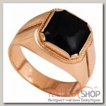 Перстень мужской Black, позолота, 18,5 р-р