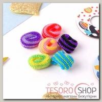 Резинка для волос Махрушка радужные полосы (набор 100 шт) яркие - бижутерия