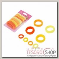 Резинки для волос Махрушка (набор 12 шт.) солнечное ассорти - бижутерия