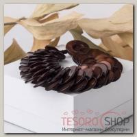 Браслет Перламутр 3 ряда, чешуйка, цвет коричневый - бижутерия