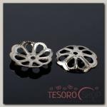 Шапочки для бусин (набор 50шт) СМ-065, цвет серебро