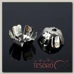 Шапочки для бусин (набор 20шт) СМ-018, цвет серебро