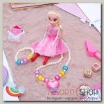 """Набор детский """"Выбражулька"""" 3 предмета: кукла, кулон, браслет, сердце, цвет МИКС - бижутерия"""