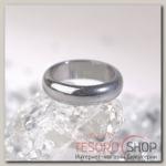 Кольцо Гематит гладкий, 5-6мм, цвет серый, размер МИКС