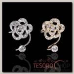 Серьга Каффа цветок, роза малая, цвет МИКС - бижутерия