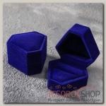 Футляр под кольцо Кристалл, 6x6, цвет синий - бижутерия