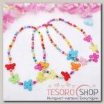 Бусы детские Выбражулька бабочки матовые, цветные - бижутерия