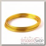 Проволока для плетения D=1,5мм, намотка 5м, цвет золотой