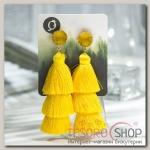 Серьги Кисти ванесса, цвет жёлтый, L кисти 5,5 см - бижутерия