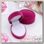 Футляр под кольцо Овал 5x6,5x3см, цвет розовый - бижутерия