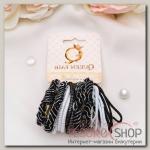 Резинка для волос Тофи (набор 22 шт) объём, чёрно-белые - бижутерия