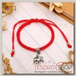Браслет-оберег Плетение слон, цвет красный - бижутерия