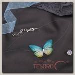 Чокер Butterfly на леске, цвет зелёно-жёлтый в серебре - бижутерия