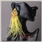 Серьги перья Искушение , цвет жёлтый в золоте - бижутерия